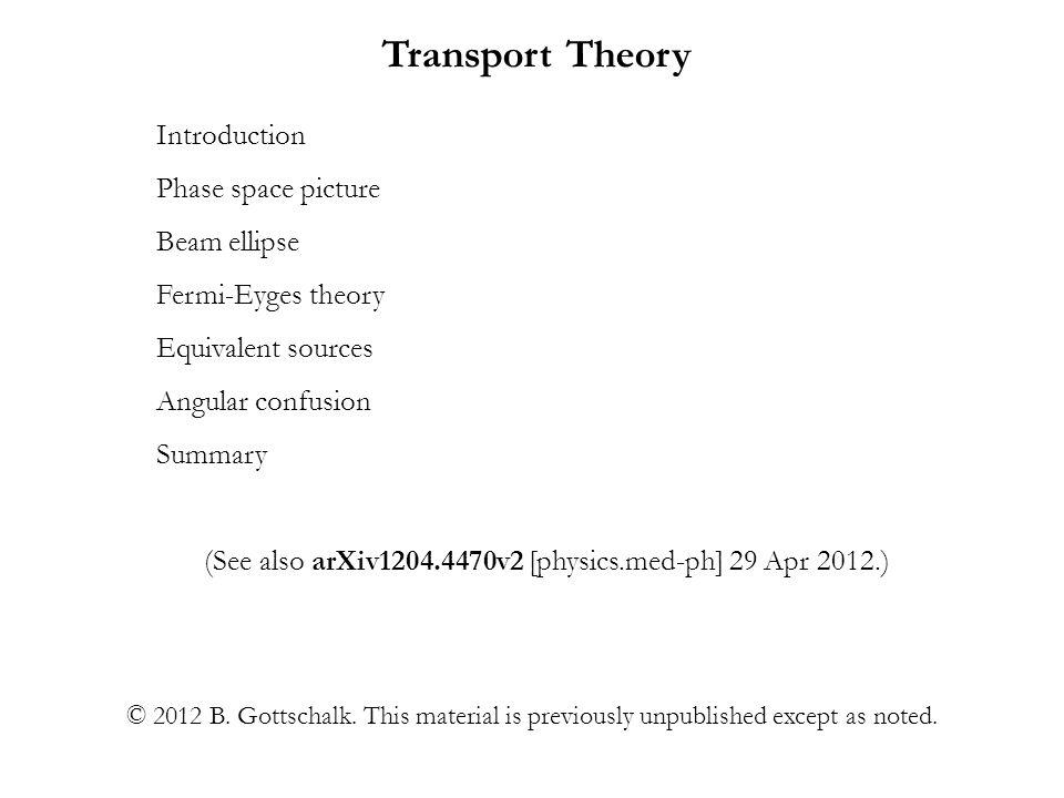 (See also arXiv1204.4470v2 [physics.med-ph] 29 Apr 2012.)